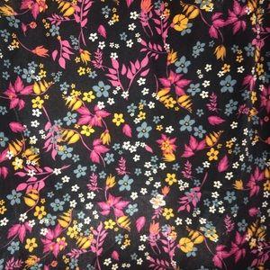 NWT Lularoe xs joy flower print no stretch